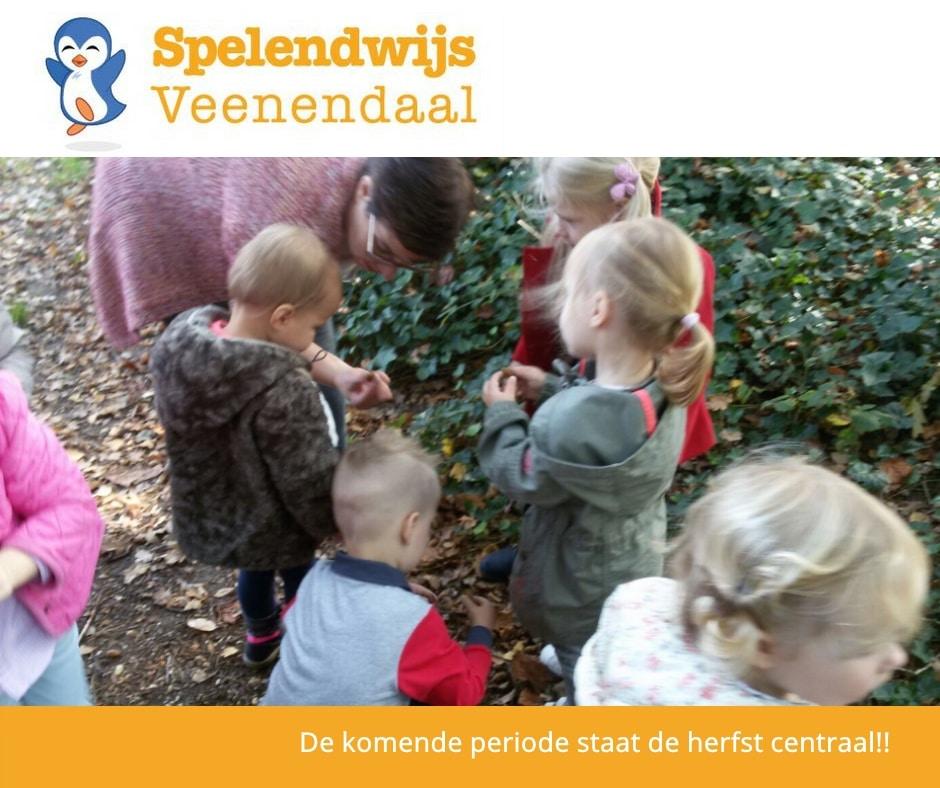 """Deze periode staat het thema """"herfst"""" centraal bij Kinderopvang Spelendwijs Veenendaal"""